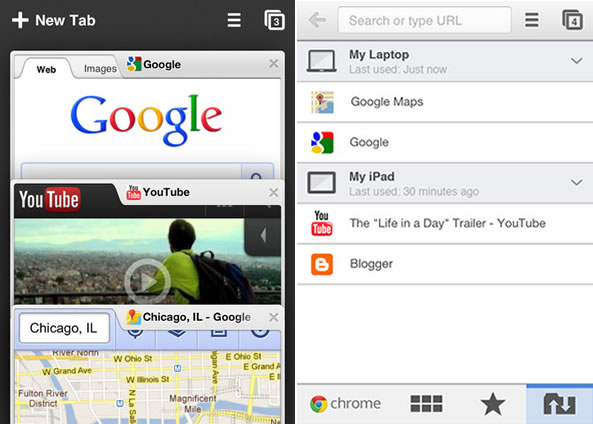 Google Chrome sur iPhone et iPad