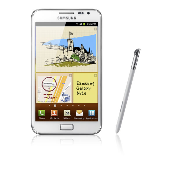 Samsung Galaxy Note en blanc