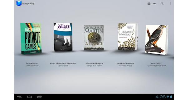Google Play Books, librairie numérique sous Android