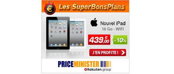 iPad à 439 euros sur Priceminister