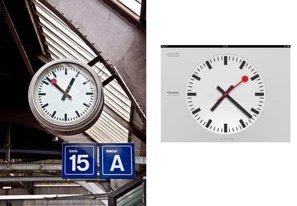 Icône horloge iOs 6 Apple