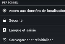 sauvegarder ses contacts mobile Android