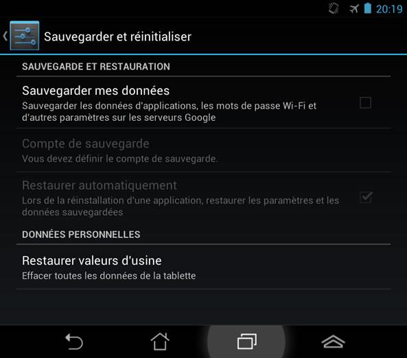 Sauvegarder données personnelles Android