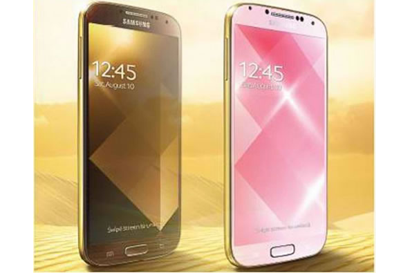 Samsung S4 - Gold Brown et Gold Pink