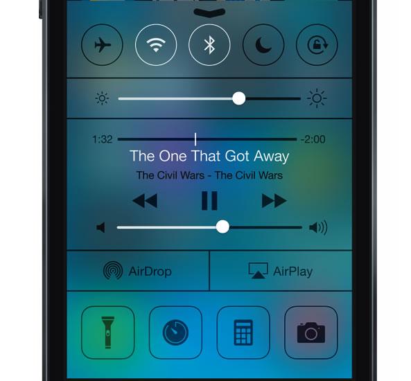 Centre de contrôle - iOs 7 iPhone
