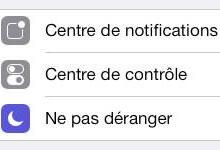 Apple iPhone - Centre de contrôle