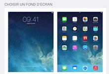 Image sur la page d'accueil iPhone