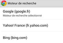 changer le moteur de recherche par défaut