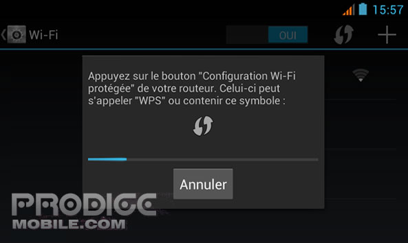 Configuration WPS Wifi