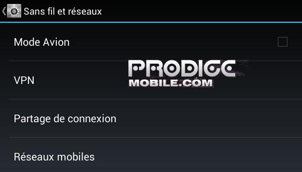 Désactiver connexion internet mobile Android