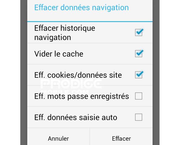 comment effacer lhistorique de tukif effacer l historique de navigation sur votre mobile android