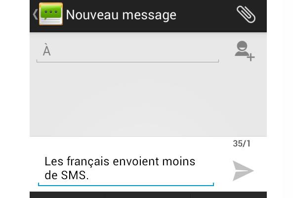 Les français s'envoient moins de SMS