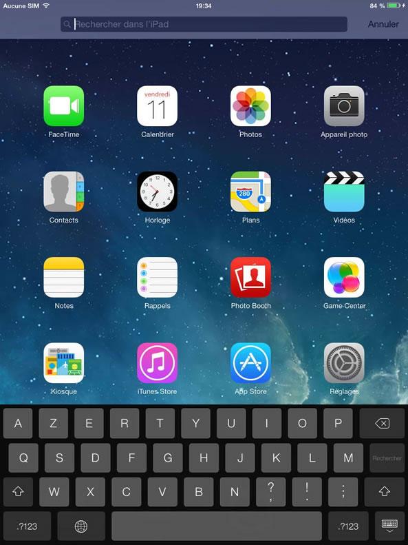 Recherche iPhone iOs 7