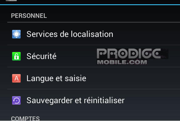 Réinitialiser son mobile Android