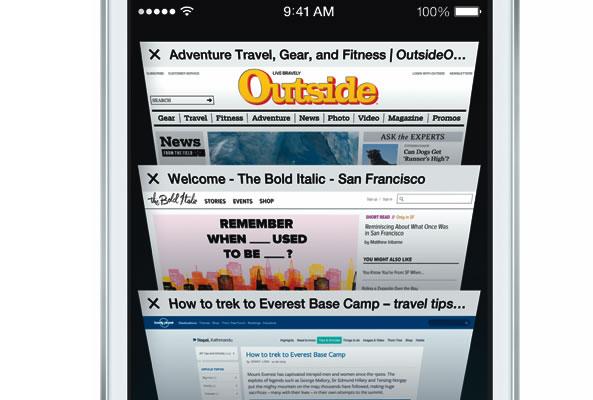 Personnaliser accueil Safari iOs 7