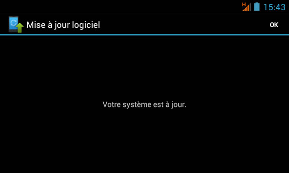 Votre système Android est à jour