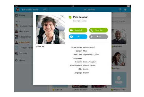 Passer appels avec iPad - Skype