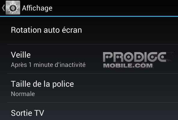 Temps mise veille Android