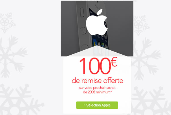 100 euros offerts en bon d'achat - iPhone Apple