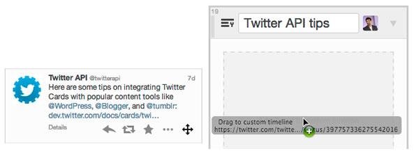 Ajouter des tweets sur une Timeline personnalisée - Twitter