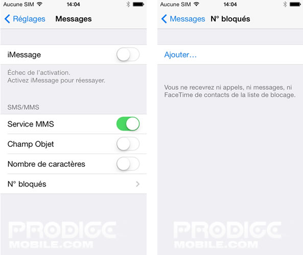 Bloquer appel sur iPhone