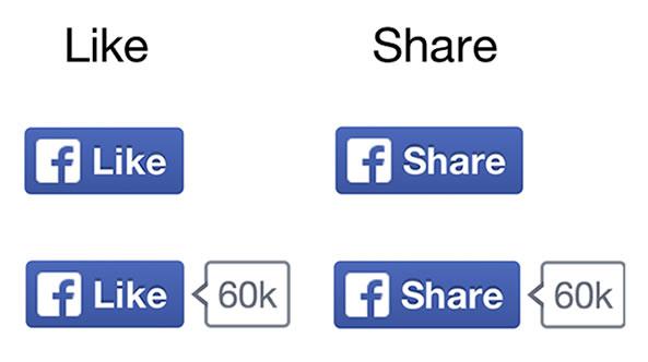 Nouveaux boutons Facebook
