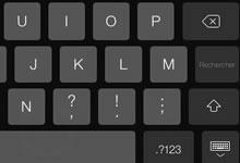 Diviser le clavier de l'iPad en deux parties