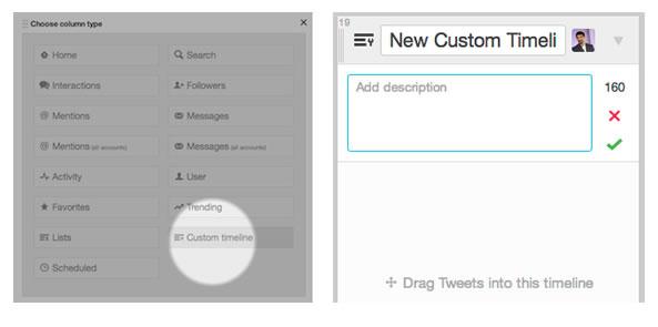 Création Timeline personnalisée - Twitter