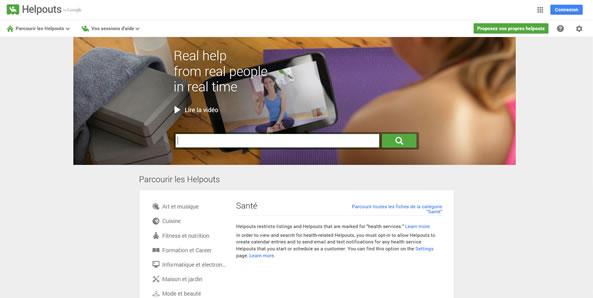 Google Helpouts - Service d'aides