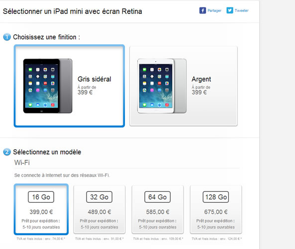 iPad Mini Retina disponible en France