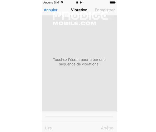 Créer une vibration - iPhone