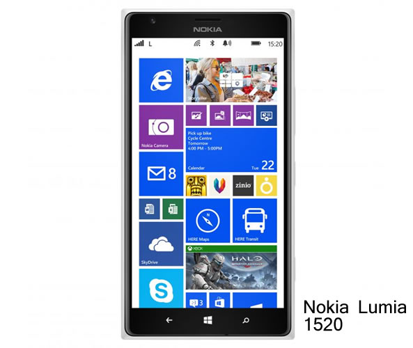 Nokia Lumia 1520 sous Windows Phone