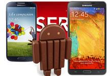 Android 4.4 KitKat sur le Note 3 et le S4