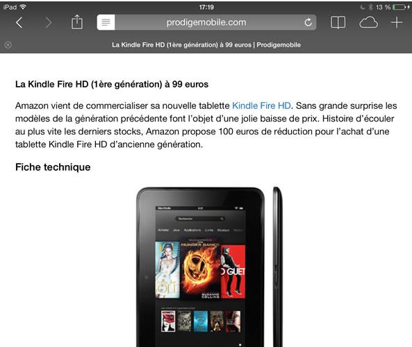 """""""Fonction Lecteur sur iPhone: Améliorer la lisibilité des sites web"""