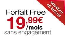 Forfait 4G - Free Mobile