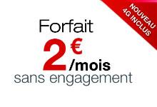 Forfait Free à deux euros avec la 4G comprise
