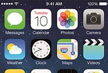 iOs 7 équipe les terminaux mobiles Apple