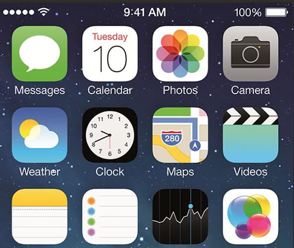 iOs 7 sur les terminaux mobiles Apple