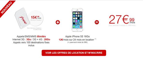 Location de smartphones - Offre de Free Mobile