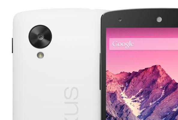 Nexus 5 mise à jour Android 4.4.1 - Capteur photo