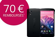 LG vous rembourse 70 euros pour l'achat d'un Nexus 5