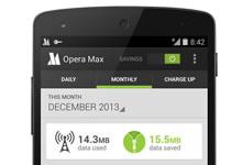 Opera Max vous aide à économiser votre forfait data
