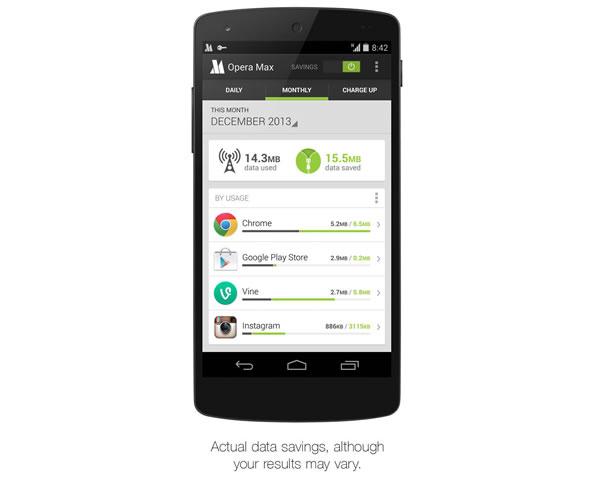 Opera Max - Economiser sa consommation de données