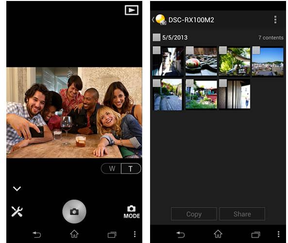 PlayMemories Mobile pour Sony QX10 et QX100