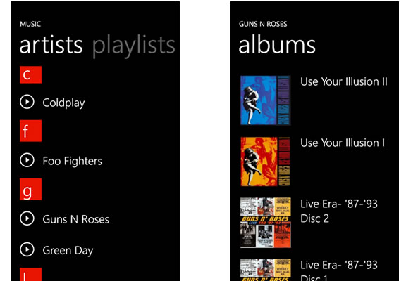 SkyMusic application streaming musical pour Windows Phone