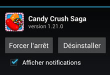 Désinstaller une application Android