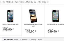 SFR smartphones d'occasion