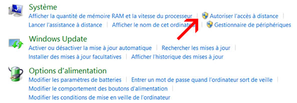 Autoriser accès à distance sur Windows