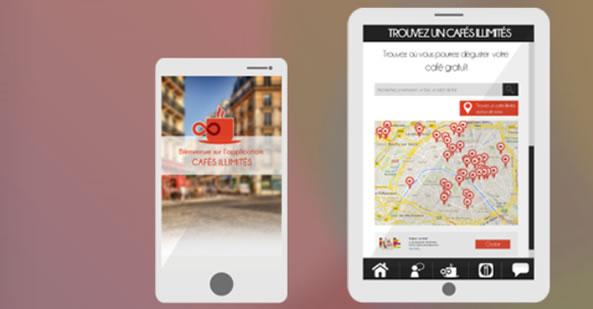Application pour smartphones Cafés illimités
