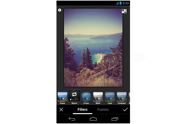 Filtre photo Google Plus